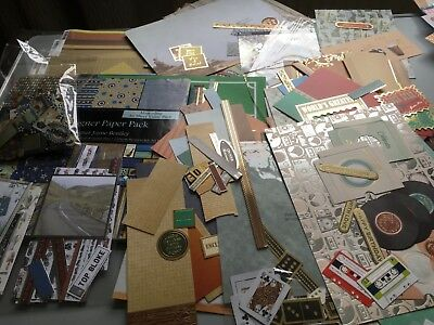 Bundle of Papercraft Materials for Masculine Cards