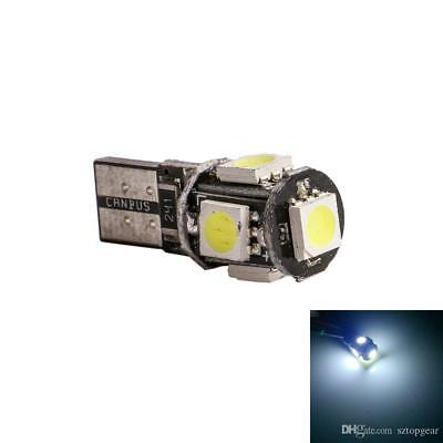 1x LUCI POSIZIONE A 5 LED SMD T10 CANBUS BIANCO