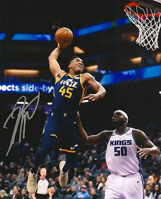 DONOVAN MITCHELL SIGNED Jazz 2018 Dunk Champ auto 8x10 NBA photo ... f4a06beb9