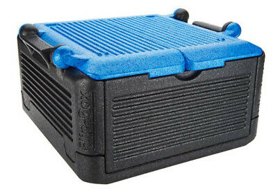 FLIP BOX BLUE LG 26 QTS/45 cans Insulation Box Hot/Cold ICELESS Foldable Cooler