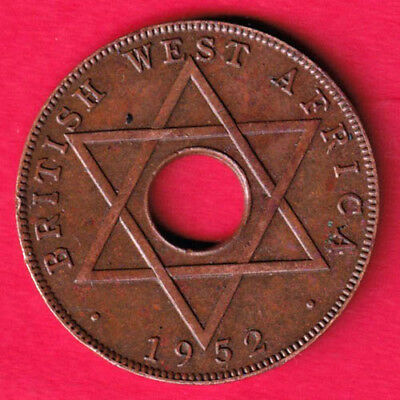 British West Africa - 1952 - One Half Penny - Rare Coin #qo8