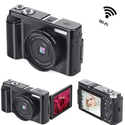 24MP Mini Digital Camera DV Camcorder Recorder 3.0'' LCD Wireless WIFI 16X Zoom