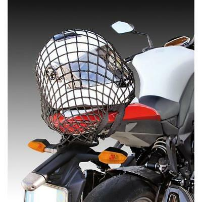 Motorcycle cruiser scooter large 42 x 42 cm cargo net black 6 strong hooks