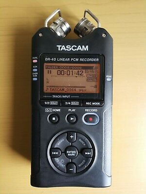 Tascam DR-40 Linear PCM 4-Track Handheld Portable Audio Recorder with 2GB SD Car