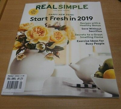 Real Simple magazine JAN 2019 Great Smelling Home, Exercise for Busy People &