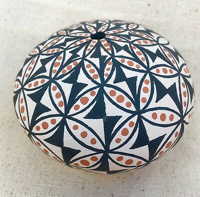 Signed ACOMA Pueblo Pottery Seed Pot