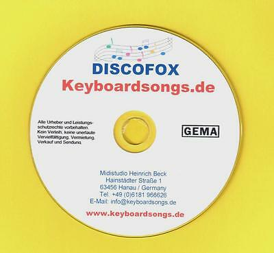 Midifiles KEYBOARDSONGS DISCOFOX SPEZIALAUSGABE plus Tyros2-5/Genos Versionen
