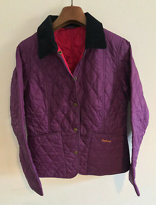 Barbour Quilted Jacket! Womens 8/10! Purple Coat! 36-38 Chest! Authentic!
