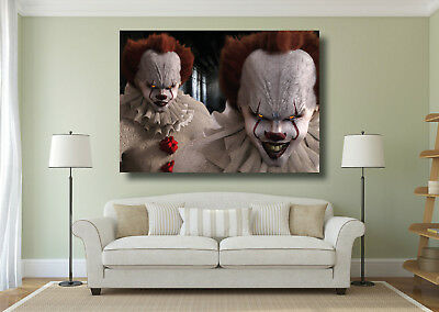 IT Movie Clown Pennywise Large Poster Wall Art Print - A0 A1 A2 A3 A4 Maxi