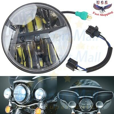 "Phase 7 Truck Lite Style High Intensity 7"" LED Headlight Harley Touring Glide US"