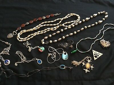 Nice Job Lot Bundle Of Vintage & Modern Silver  Tone Costume Jewellery (2)