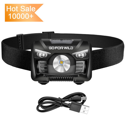 Rechargeable Headlamp, 500 Lumens White Cree LED Head lamp with Red light and Mo