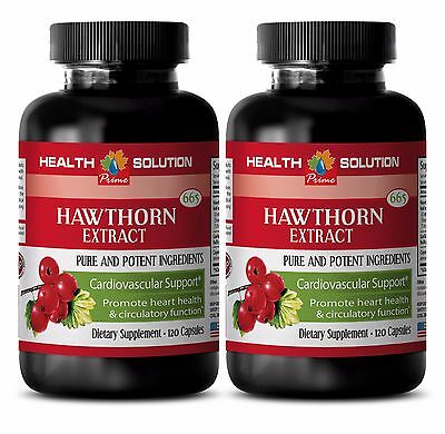 Garlic Supplement - Hawthorn Extract 665mg - Improves Blood Flow 2B