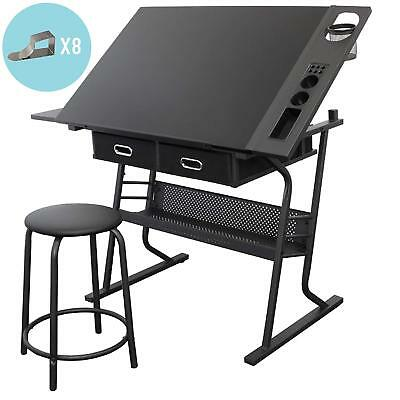 Stationery Island Drawing Table W/Stool Craft Table Art Desk Tiree
