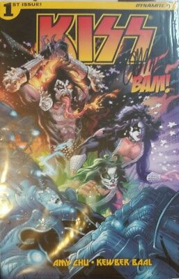 ARTIST SIGNED Kiss #1 Comic, Bam Box EXCLUSIVE Autograph John Lucas Cover VF