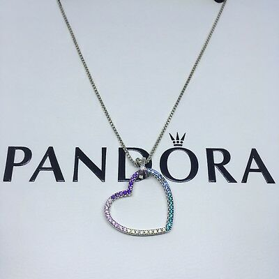 Sterling Silver Collar CORAZÓN MULTICOLOR ALE S925 Genuine Pandora bag