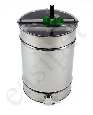 Beekeeping Stainless Steel Honey Extractor Manual 4 frame Bee 2NDS 584
