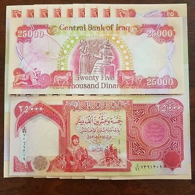 25,000 Iraqi Dinar (1) 25000 Notes Iqd Uncirculated Iraq Currency