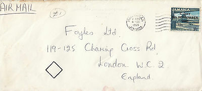 L 1542 Jamaica Air Mail Cover 1969 to UK. C-Day overprint on 1/6d stamp.