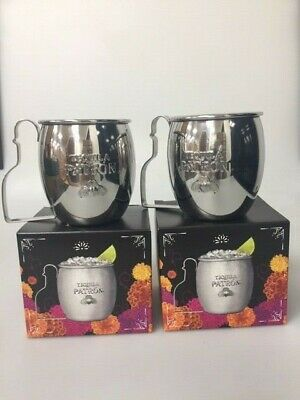 "Tequila Patron /""Day of the Dead/"" Stainless Steel Cocktail Mug Cup Tankard 2018"