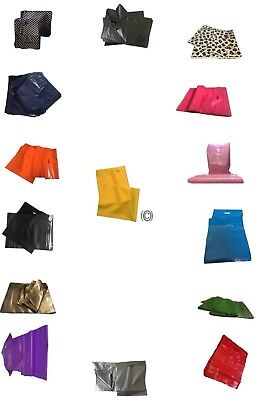 "15"" x 18"" Coloured Plastic Carrier Bags Strong Patch Handle Medium Fashion Shop"