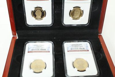 NGC PF69 Ultra Cameo $1 (4) Presidential Set Of Proof Uncirculated Coins W/Box