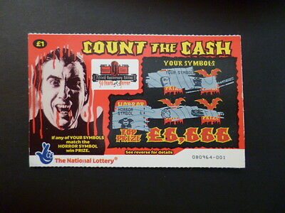 1 Used Scratch Card Featuring Christopher Lee As Dracula. Vampire,hammer Horror