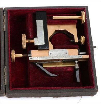 Antique Leitz Wetzlar Mechanical Stage for Microscope. Germany, Circa 1900