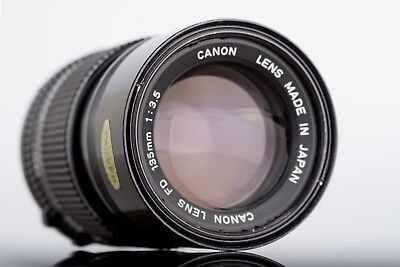 Canon New FD 135mm f/3.5 Lens For for AE-1 AV-1 A-1 Fully Functional with Caps