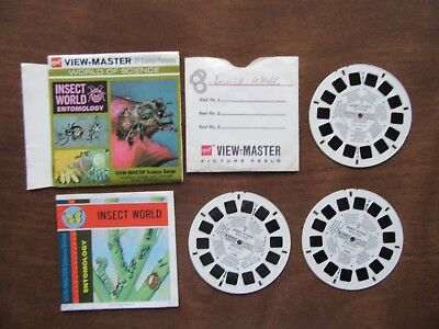 B688 Insect World Entomology View-Master World of Science 1972