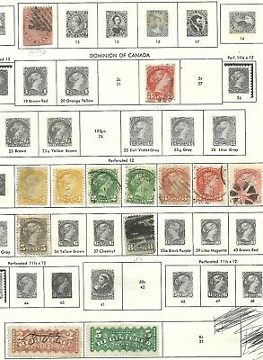Early Canada Mixed Value Stamps - Approx 150 on paper