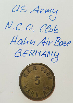Wertmarke > US ARMY > N.O.C. Club > Air Base > Hahn GERMANY