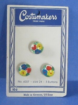 Vintage Floral Bubble Buttons