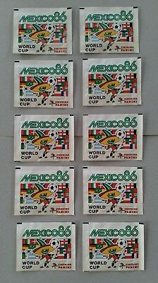 10 x Panini sealed packets (full) MEXICO '86 - 1986 - excellent condition