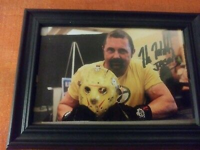 Kane hodder signed Photo framed 4 by 6 jason Voorhees friday the 13th franchise