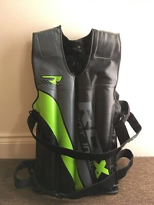 Used RDX Removable Weighted Jacket Green - 10-18kg - Fitness / Gym / Strength