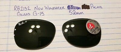 100% Authentic Replacement Lens RayBan RB2132 NEW WAYFARER Glass G-15 52mm POLAR