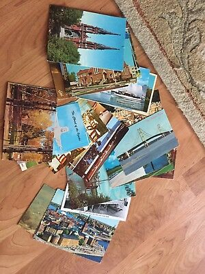 Lot of 25 Vintage postcards, Random cards from 50s to 60s