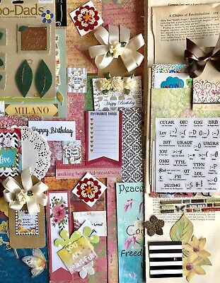 Junk Journal Kit 150 Plus Items, Vintage Papers, Stickers, Quotes, Words, Kit #8