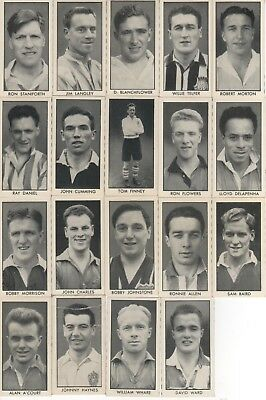 DC Thompson Trade Cards. 19 Different Football Stars. 1957.