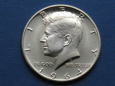 1964P Kennedy Half Dollar Proof  90% Silver US Coin Uncirculated Free Shipping