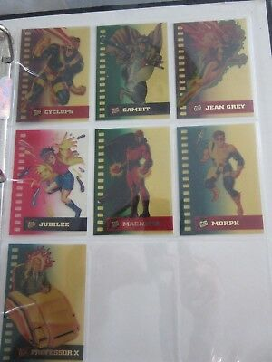 Fleer Ultra X-Men '95, Suspended Animation, 7 Chase Cards, Marvel, #'s 2 to 8