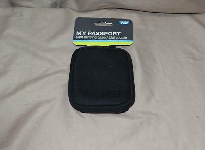 Western Digital My Passport Carrying Case - Soft sided HDD case - Black - NEW!