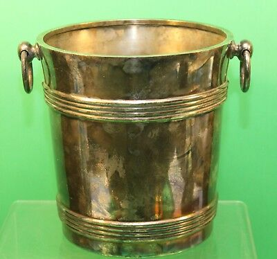 """Antique Silver Champagne Bucket CHRISTOFLE """"24"""" with Maker Mark Nice!"""