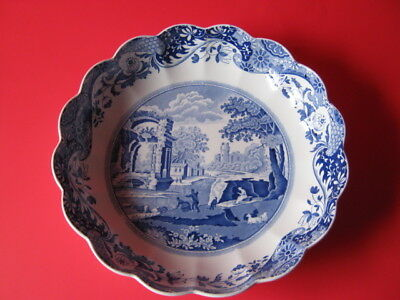 Spode Blue Italian Fluted Serving Dish 9 3/4 inches - England