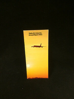 Delta Air Lines Inc 1972 Plane Annual Report Book Great Condition