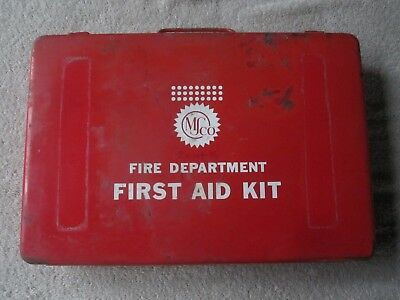 Vintage MSco  Fire Department  - First Aid Kit