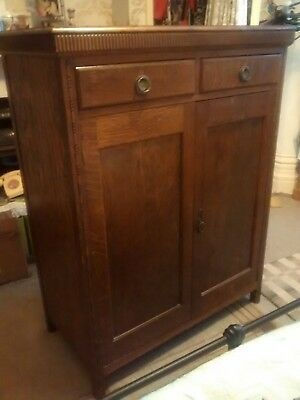 Vintage small,solid,combo/gents/childs wardrobe 2door, 2drawer, w39 x d20 x h51
