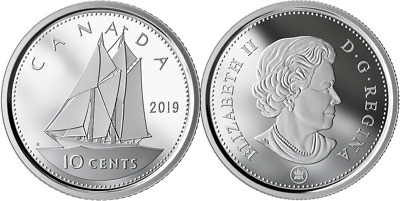 2019 Dime 10-Cent Bluenose Pure Silver Proof Coin Canada Classic from D-Day Set