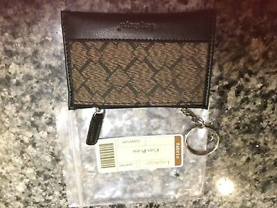 Longaberger Small Coin Purse Key Chain Wallet, new in package